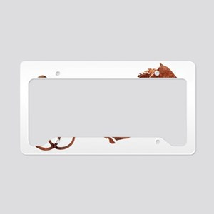 BrownPacerSilhouette License Plate Holder