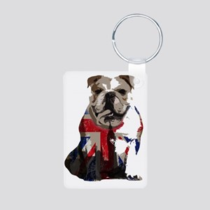 best of british Aluminum Photo Keychain