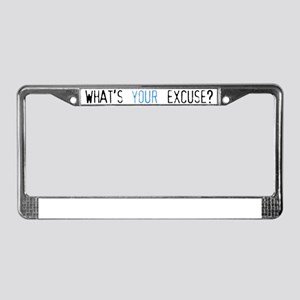 not fat pregnant blue back License Plate Frame