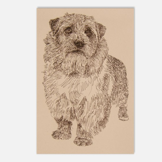 Norfolk_Terrier_Kline Postcards (Package of 8)