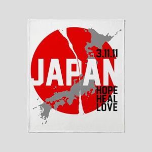 Japan-Hope-w1 Throw Blanket