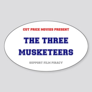 CUT PRICE MOVIES - THE THREE MUSKET Sticker (Oval)