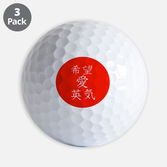 red circle hope love strength png Golf Ball