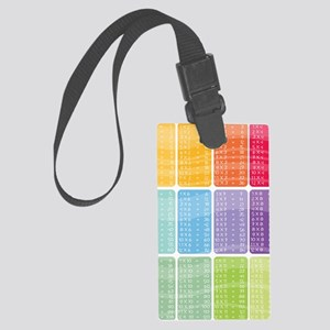 times table multiplication rainb Large Luggage Tag