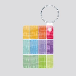 times table multiplication Aluminum Photo Keychain
