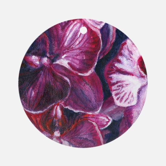 orchids_edithalfsize Round Ornament
