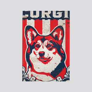 corgi_usa_white Rectangle Magnet