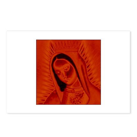 Virgen de Guadalupe - Red Postcards (Package of 8)