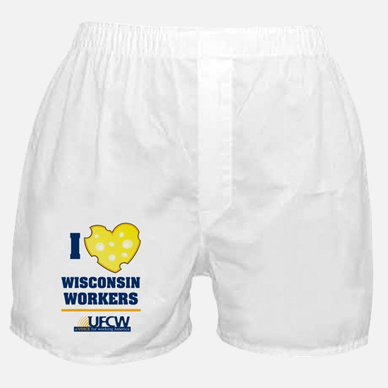 I heart wisconsin workers Boxer Shorts