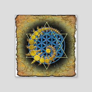 """East Field Star_www Square Sticker 3"""" x 3"""""""