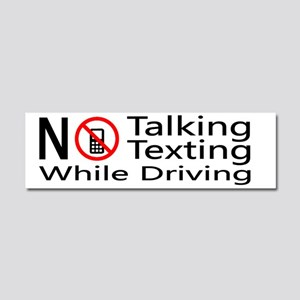 notalking_notexting Car Magnet 10 x 3