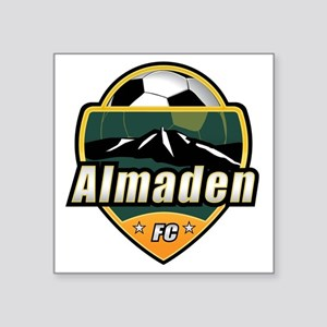 "AlmadenFC_logo_1174x1232 Square Sticker 3"" x 3"""