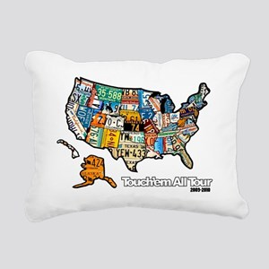 TouchemAllTee-F USMapPla Rectangular Canvas Pillow