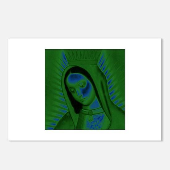 Virgen de Guadalupe - Green Postcards (Package of