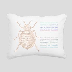 drawing_black Rectangular Canvas Pillow