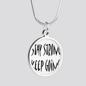 cp_staystrong Silver Round Necklace