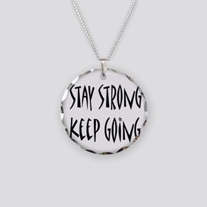 cp_staystrong Necklace Circle Charm