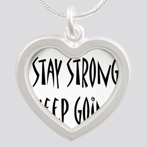 cp_staystrong Silver Heart Necklace