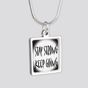 cp_staystrong Silver Square Necklace