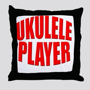 uke, ukulele, ukes, ukuleles, ukelele Throw Pillow