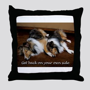 Get Back On Your Own Side Throw Pillow