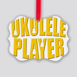 ukulele uke player Picture Ornament