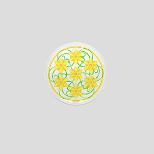 Daffodils Mandala Mini Button
