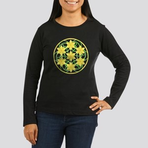 Daffodils Mandala Women's Long Sleeve Dark T-Shirt