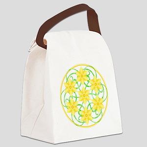 Daffodils Mandala Canvas Lunch Bag