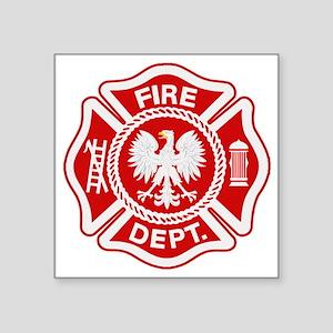 "Polish Firemen t shirt Square Sticker 3"" x 3"""
