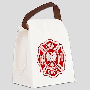 Polish Firemen t shirt Canvas Lunch Bag