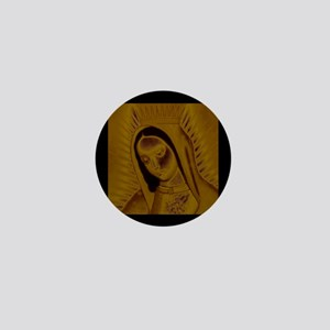 Virgen de Guadalupe - Gold Mini Button