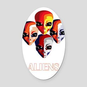 The Aliens_final_dark Oval Car Magnet