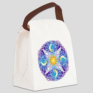 Celestial Mandala Canvas Lunch Bag