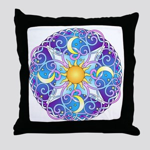 Celestial Mandala Throw Pillow