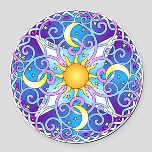 Celestial Mandala Round Car Magnet
