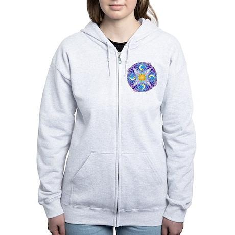 Celestial Mandala Women's Zip Hoodie