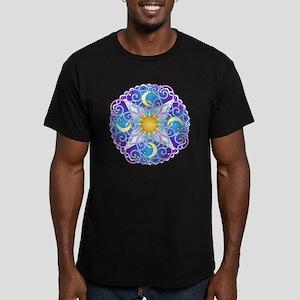 Celestial Mandala Men's Fitted T-Shirt (dark)