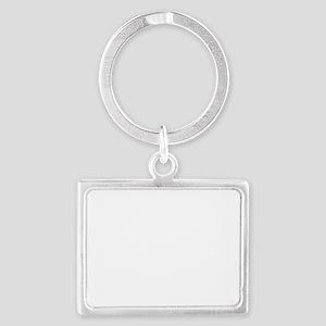 rocky point logo-white Landscape Keychain