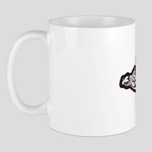 connecticut white letters Mug
