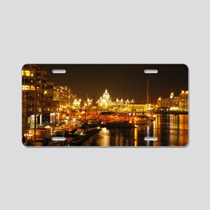 Victoria Harbour at night. Aluminum License Plate