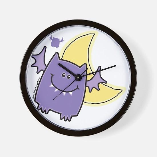 Vampire Bat in Crescent Moon Wall Clock