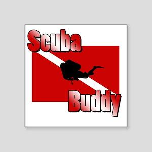 """Scuba Buddy Square Sticker 3"""" x 3"""""""
