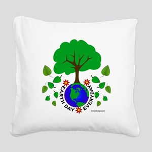 earthdayeveryday Square Canvas Pillow