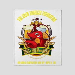 largePrintDark Throw Blanket