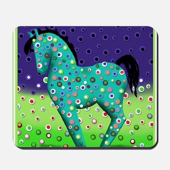 Teal Horse Notecards Mousepad