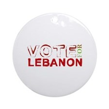 Vote for Lebanon Ornament (Round)
