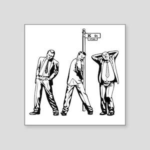 "k-str-hos-DKT Square Sticker 3"" x 3"""