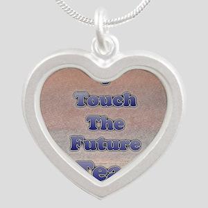 I_TEACH_5x7 Silver Heart Necklace