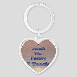I Teach Heart Keychain